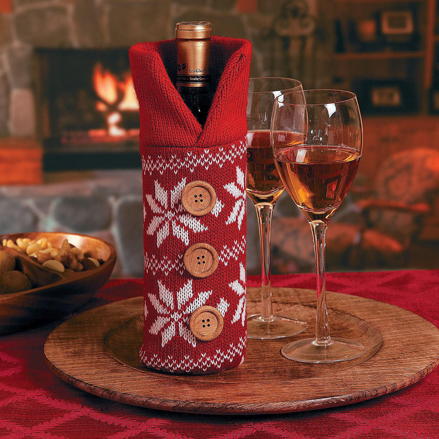 I Could Totally Make This: Red Sweater Bottle Bag. I Bet I Could Totally Make This