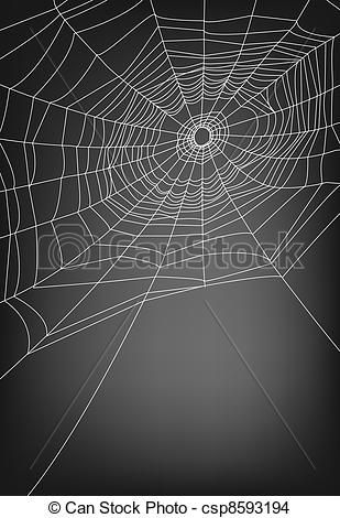 Eps Vector Of Spider Web Illustration For Background Csp8593194