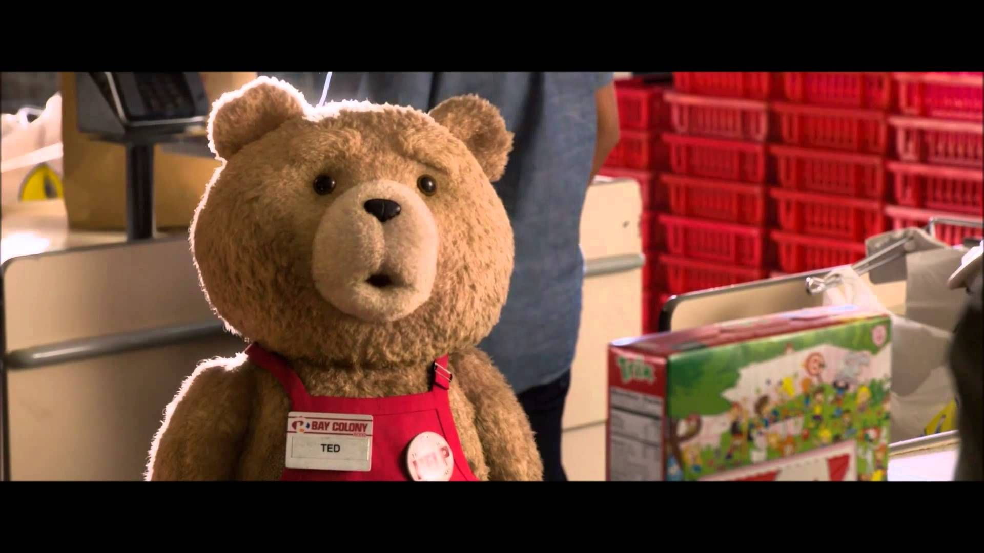 48419773 Ted 2 - Best Scene in Movie - Liam Neeson Buying a Box of Trix Ted 2  raunchy movie I can't help but like. Ted 1 was better