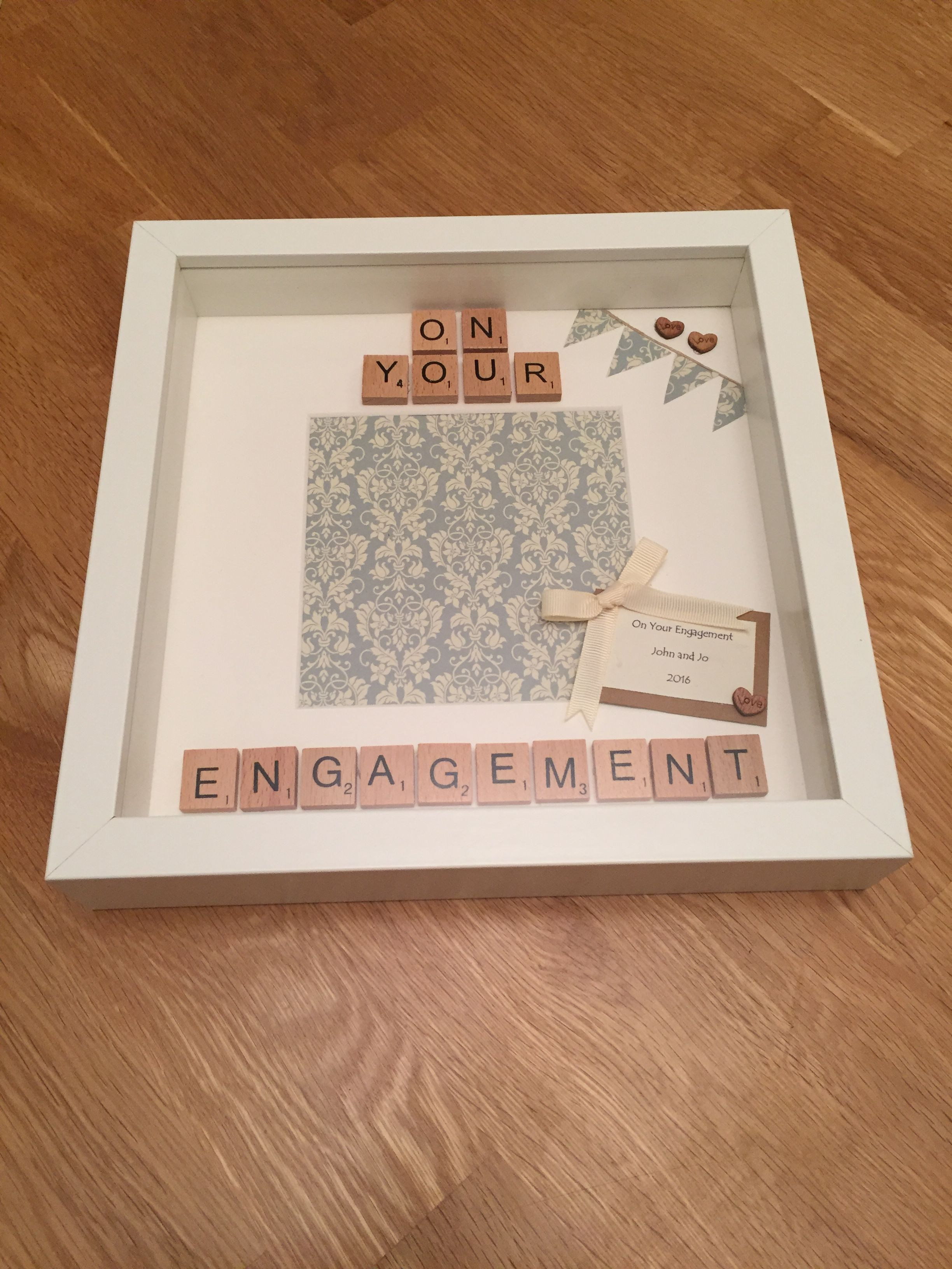 On Your Engagement - personalised scrabble frame handmade https://m ...