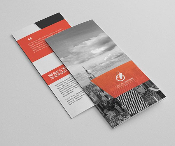 BiFoldTriFoldBrochureTemplate  Design  Corporate