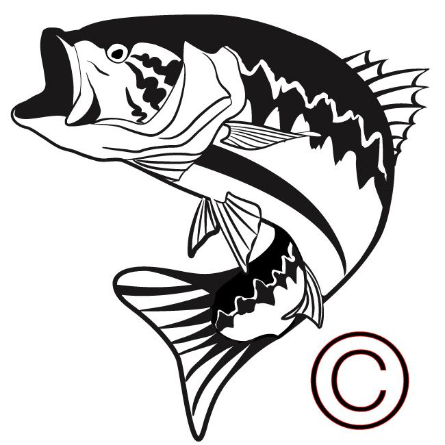bass jumping out of water silhouette bass fish jumping rh pinterest com Graphic Black and White Largemouth Bass Cartoon Fish Clip Art