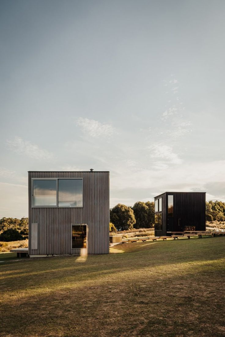 taylor  hinds architects builds tiny black cabin retreat in tasmania taylor  hinds architects builds tiny black cabin retreat in tasmania