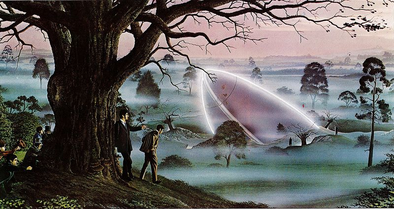War Of The Worlds Horsell Common The Chances Of Anything Coming From Mars Are A Million To One He Said Painting By Peter Goodfellow War Of The Worlds World Art Sci