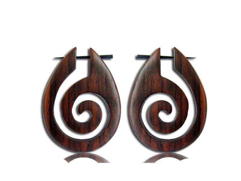 A personal favorite from my Etsy shop https://www.etsy.com/listing/245799191/wooden-earrings-pin-earrings-spiral