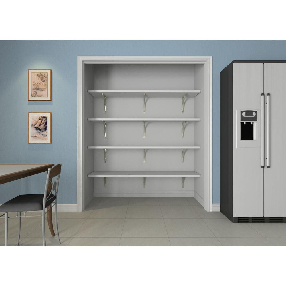 foto de ClosetMaid 16 in. D x 72 in. W x 84 in. H White Solid Wood Wall ...