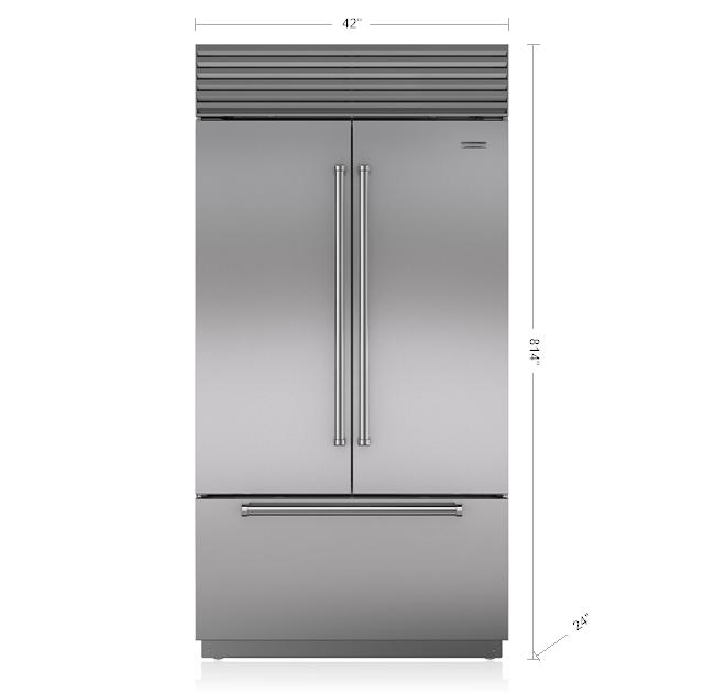 Sub Zero 42 Classic French Door Refrigerator Freezer With Internal Dispenser Bi 42ufdid S French Door Refrigerator French Doors Sub Zero Appliances