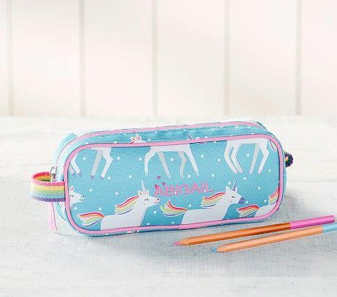 Mackenzie Aqua Unicorn Parade Lunch Box Kids Pencil Case