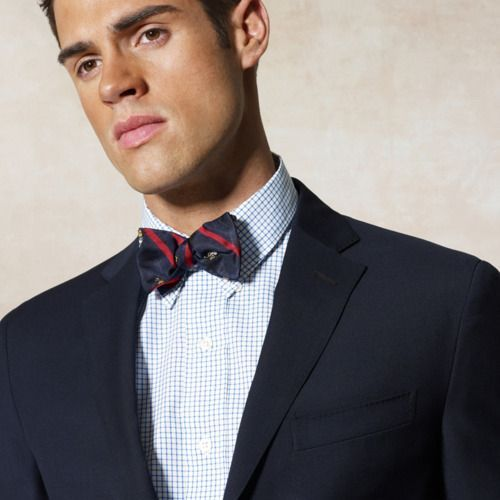 3ac8ef605f13 Great combination with the bow tie and the navy blazer. | Frat Bro ...
