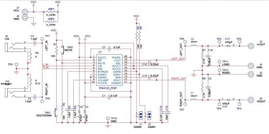 speaker network circuit diagram