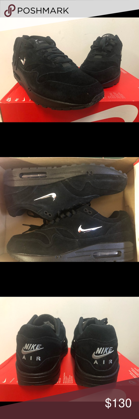 8796673e9f1 Nike Air Max 1 Premium SC Jewel Black Chrome 100% authentic and deadstock  Box lid
