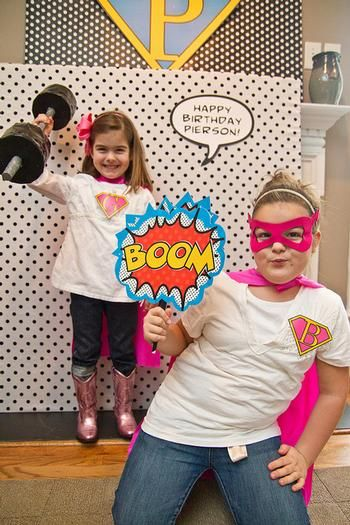 Big fan of the photo opp. People can take home memories! @Rebecca Smith Hostess with the Mostess® - Vintage Pop Art Inspired Super Hero Party