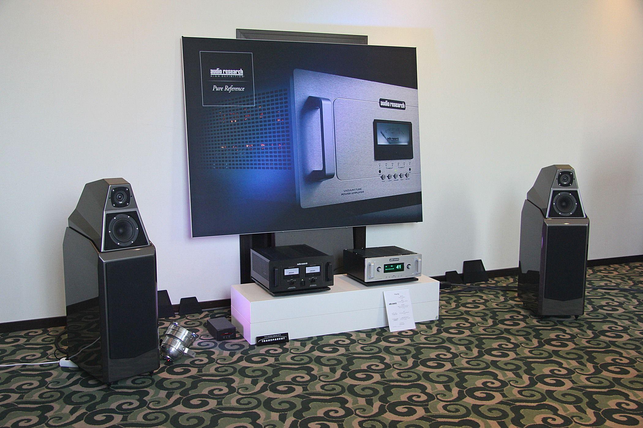 Système Audio Research, enceintes Wilson Audio Sacha 2