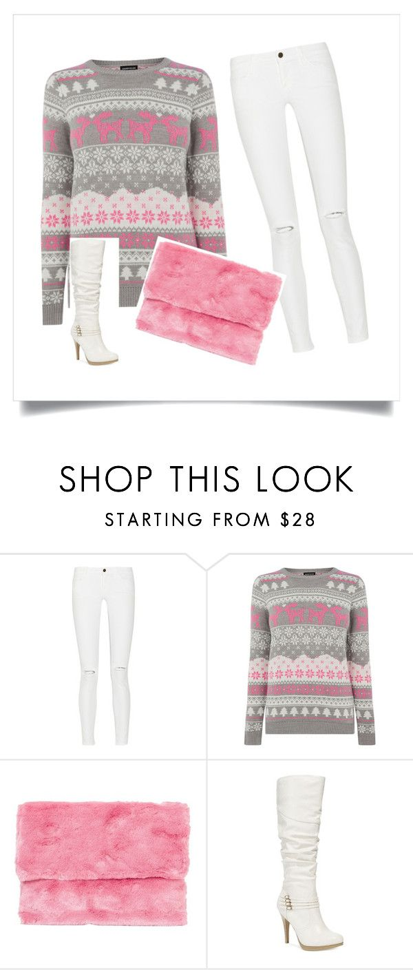 """""""pink"""" by ash-luna ❤ liked on Polyvore featuring Frame Denim, Warehouse and Style & Co."""