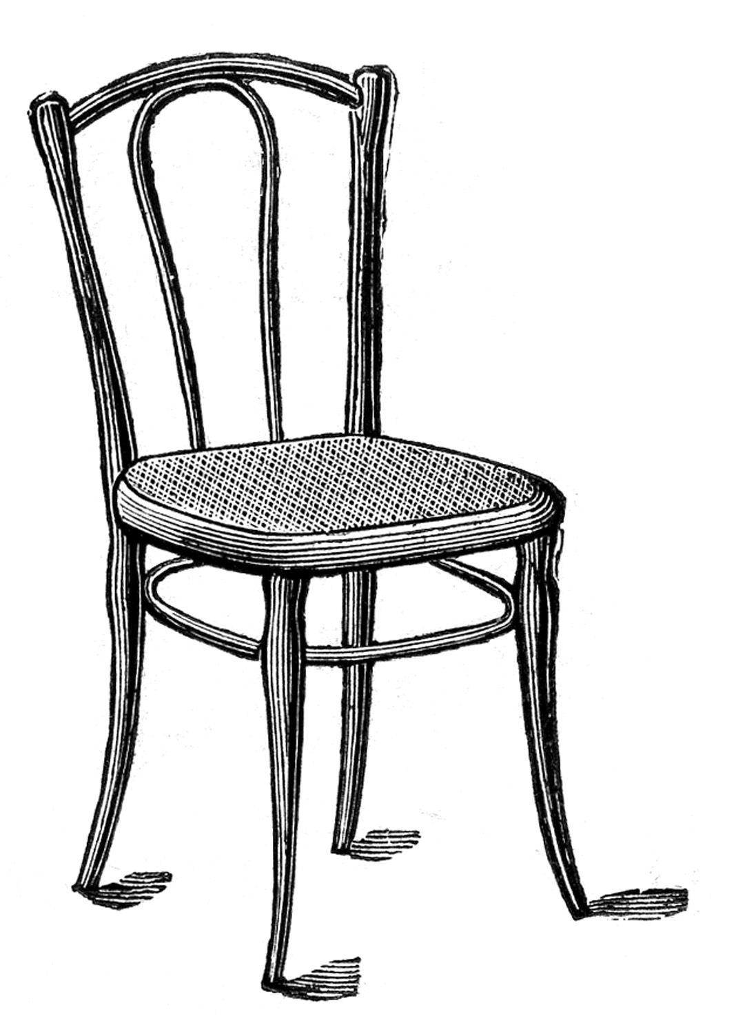 Caned Bentwood Chair Clip Art Vintage Clip Art Antique Images
