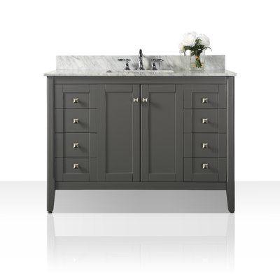Ancerre Designs Shelton 48 Single Bathroom Vanity Set Marble Vanity Tops Single Bathroom Vanity Single Sink Bathroom Vanity