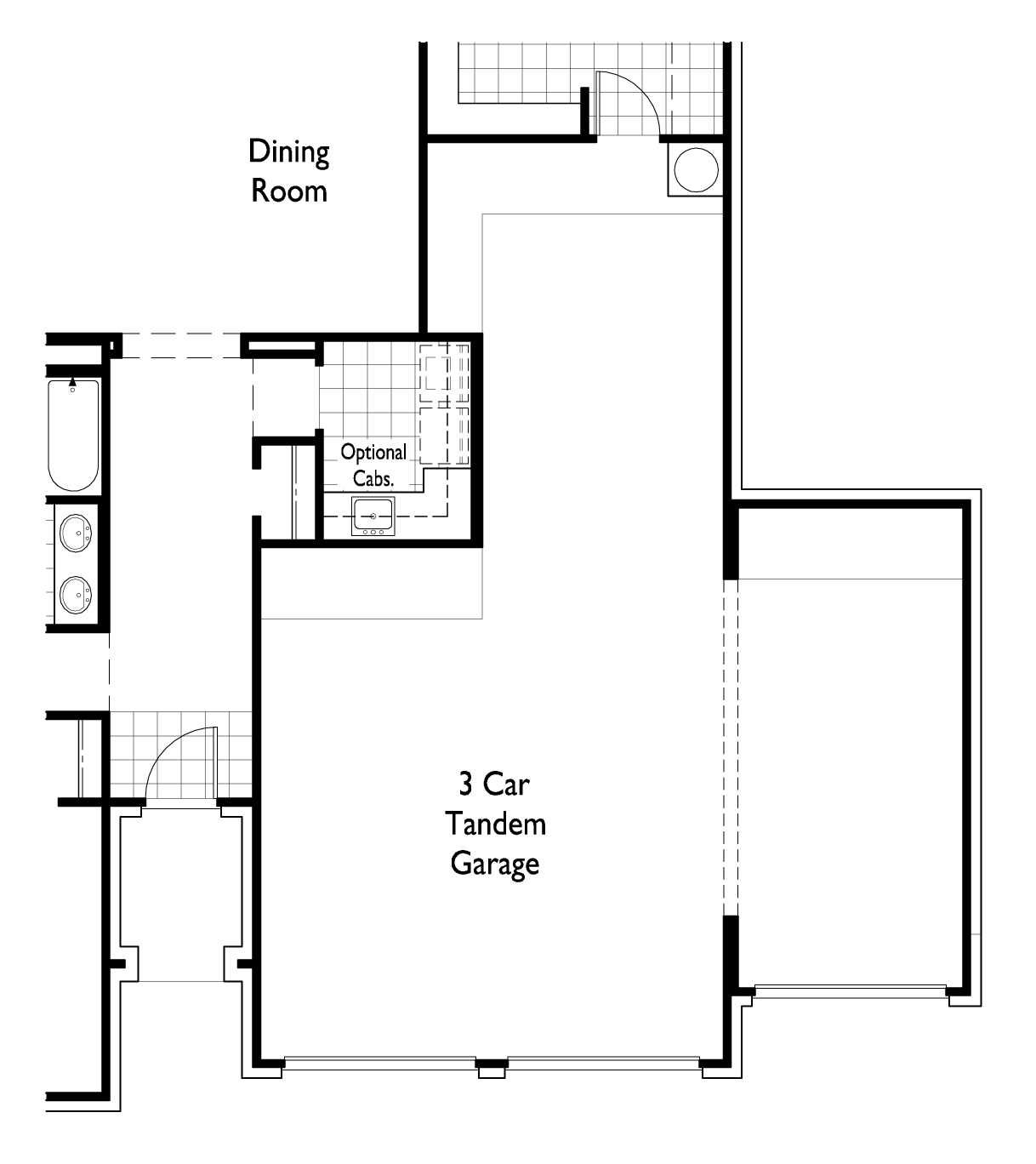 Tandem Garage House Plans Home Plans With 4 Car Tandem Garage 1 Story Google Search