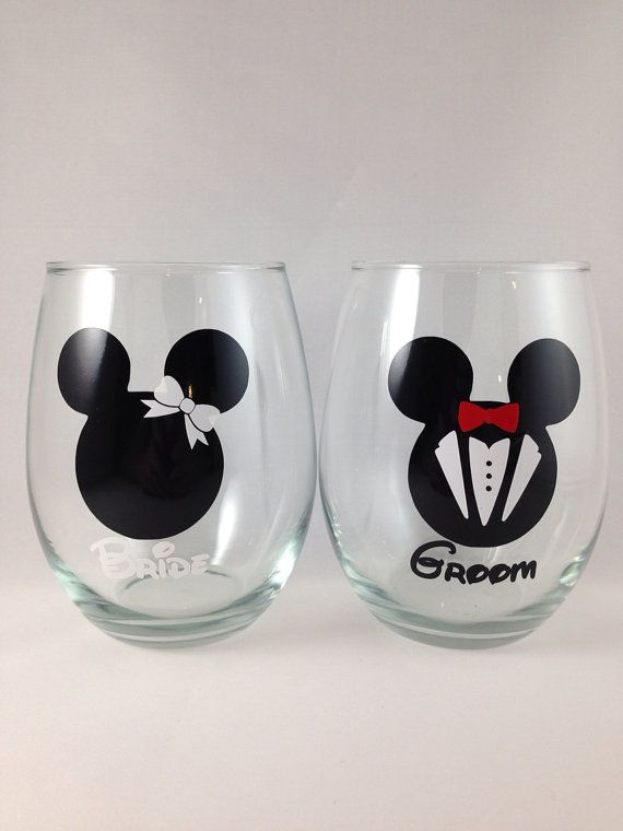 Pixar Etc Disney Characters Highball Personalised Glasses With Glittered Stem