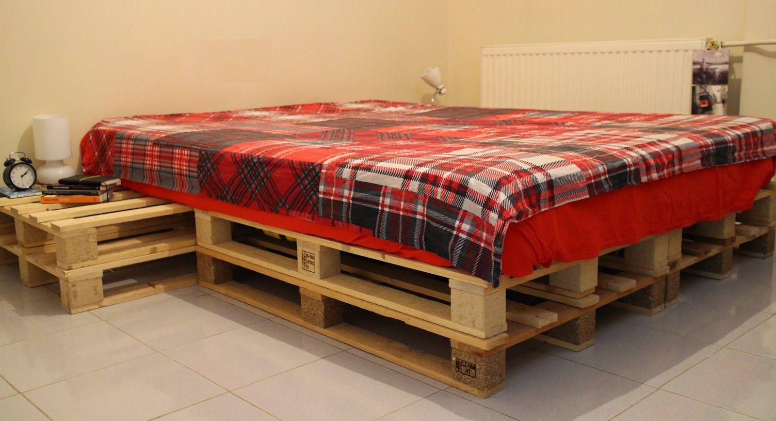 Diy Paletten Yatak Yapimi Bir Dik Bin Bak Palet Yataklar Yatak Yapimi Yatak