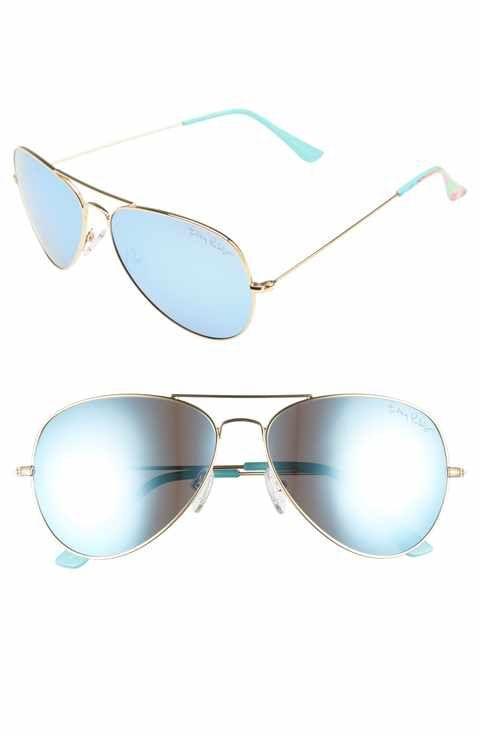 2d644a2bb927c Lilly Pulitzer® Lexy 59mm Polarized Aviator Sunglasses