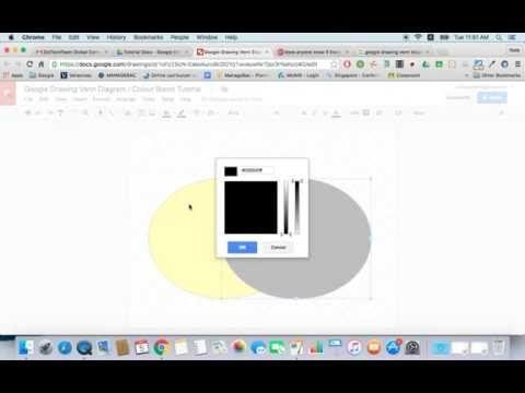 Google Drawing Venn Diagram Colour Blend Tutorial Youtube G
