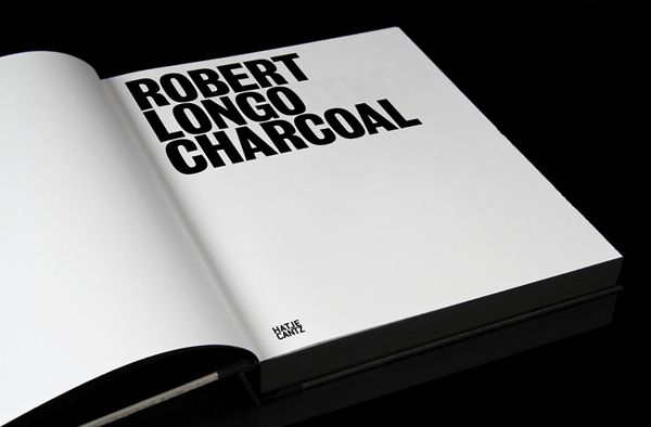 Robert Longo – Charcoal on Editorial Design Served