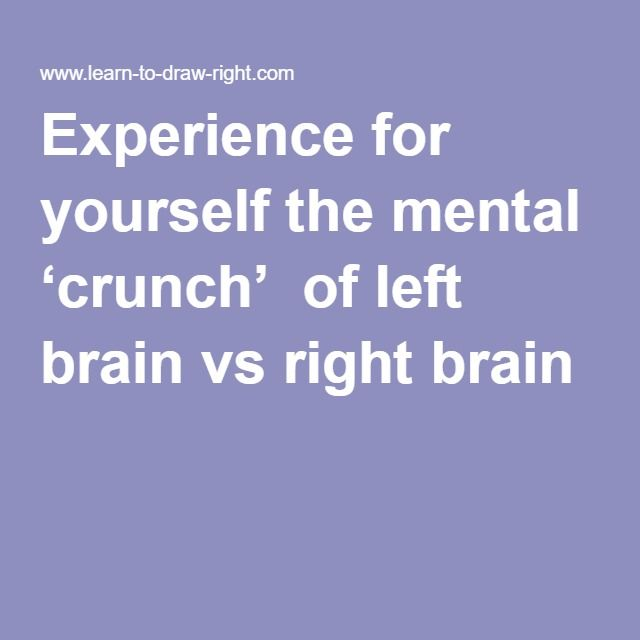 Experience For Yourself The Mental Crunch Of Left Brain Vs Right