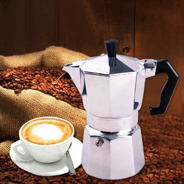 Aluminum Moka Espresso Latte Percolator Stove Coffee Maker Pot Coffee Percolator