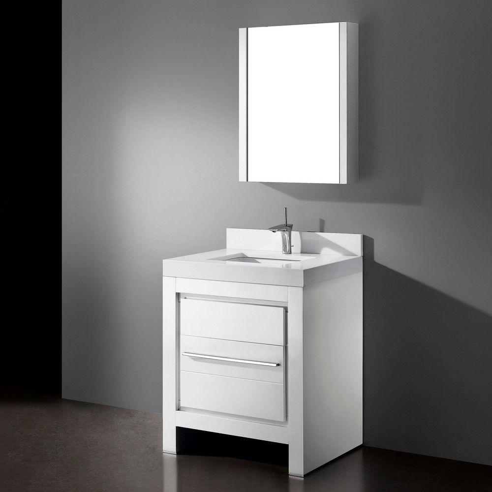 39 Glossy White Modern Floating Single Sink Bathroom Vanity Cabinet W Mirror Eba Floating Bathroom Vanities Small Bathroom Vanities Bathroom Vanity Makeover