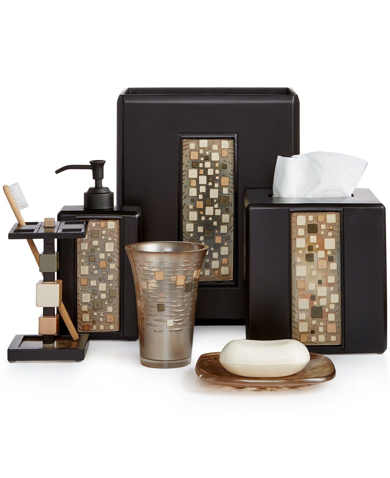 Bath Mosaic Bath Accessories Home Decorations Pinterest Bath - Croscill bathroom sets
