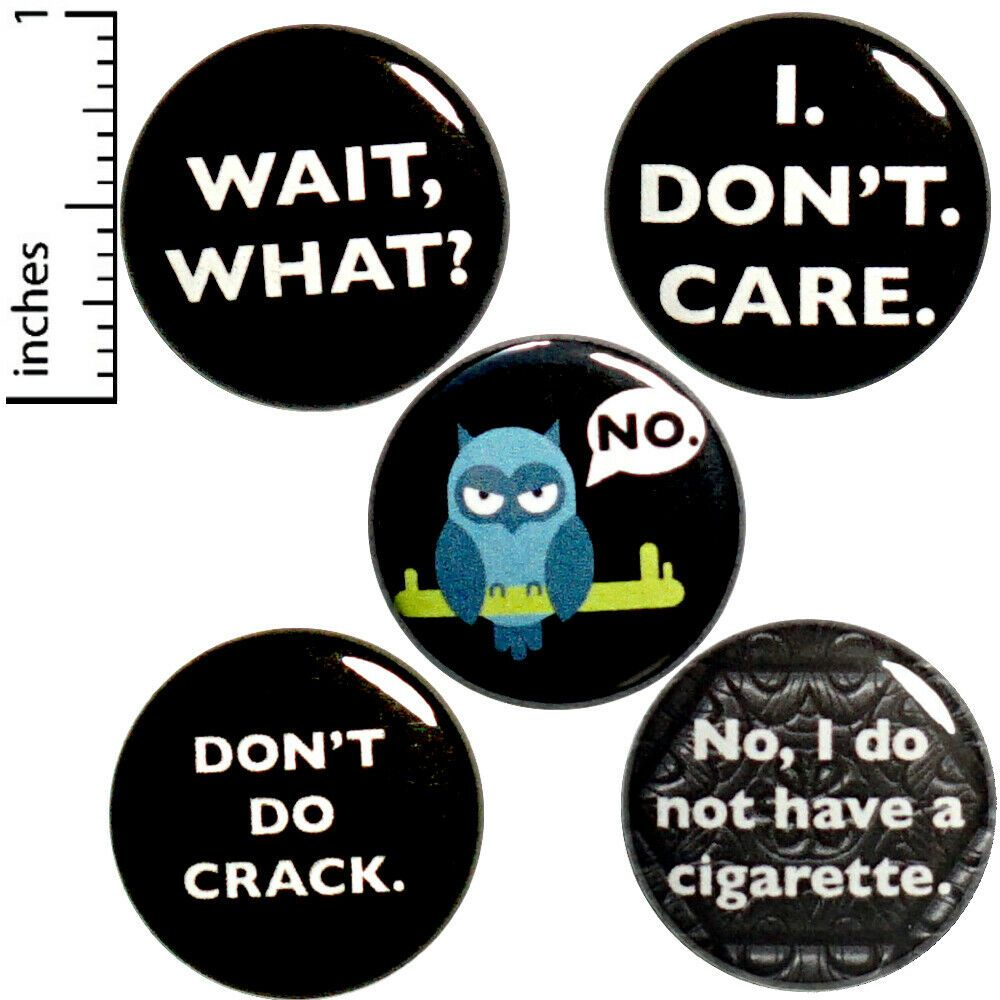 Patch Pack Don/'t Care Pack Of 5