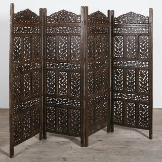 Home Decor Screens laser cut decorative screens laser cut screens brisbane outdoor garden screens privacy screens Flower Jali 4 Panel Screen India