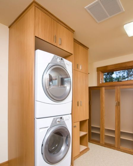 Custom Free Standing Utility Cabinets Laundry Room