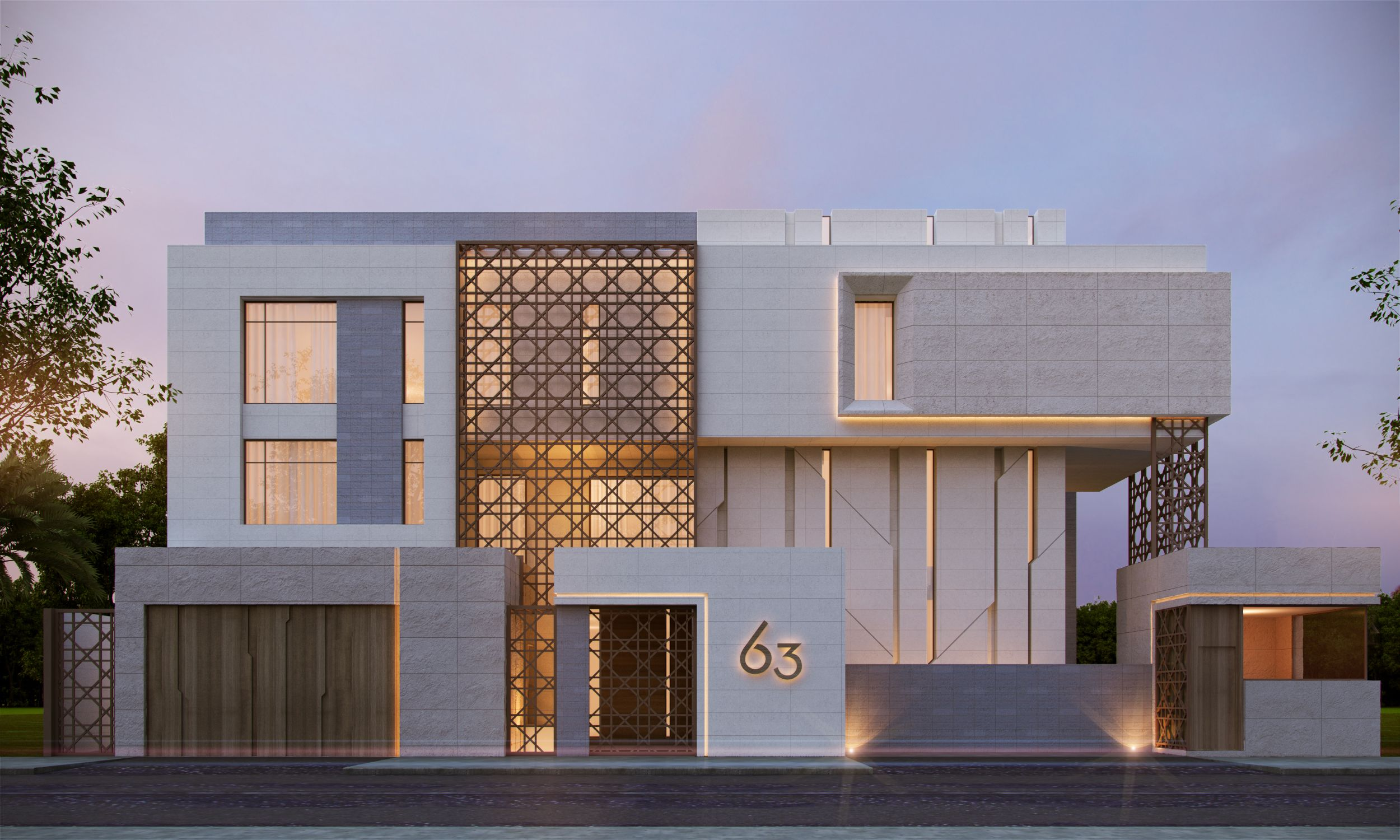 880 m private villa kuwait sarah sadeq architects sarah for Facade villa moderne