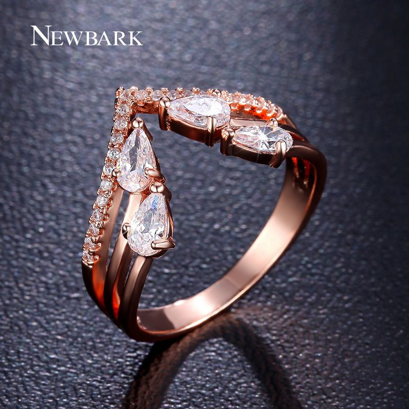 Find More Rings Information about NEWBARK Luxury V Shaped Ring