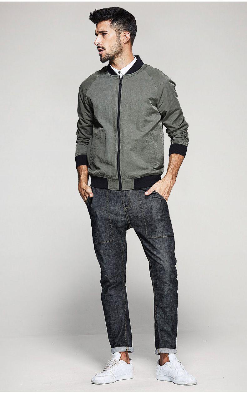 12afe0f8b4bf KUEGOU новые осенние мужские Куртки и Пальто для будущих мам лоскутное  зеленый цвет брендовая одежда человека