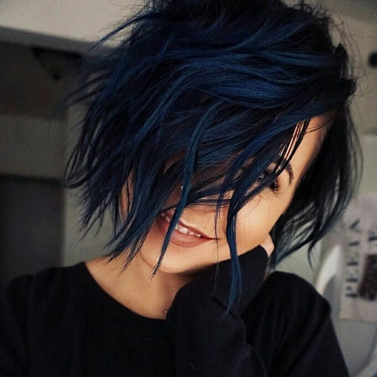 Well This Makes Me Want Short Navy Hair Hair Color For Black