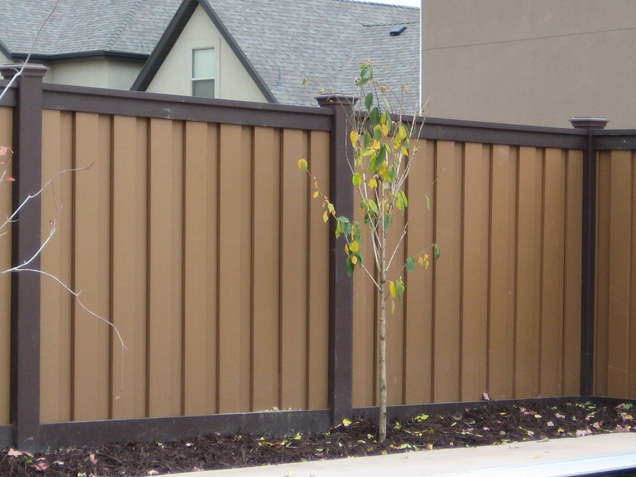 Trex Seclusions Woodland Brown Fence Garden Fence Panels Fence Design Garden Fence