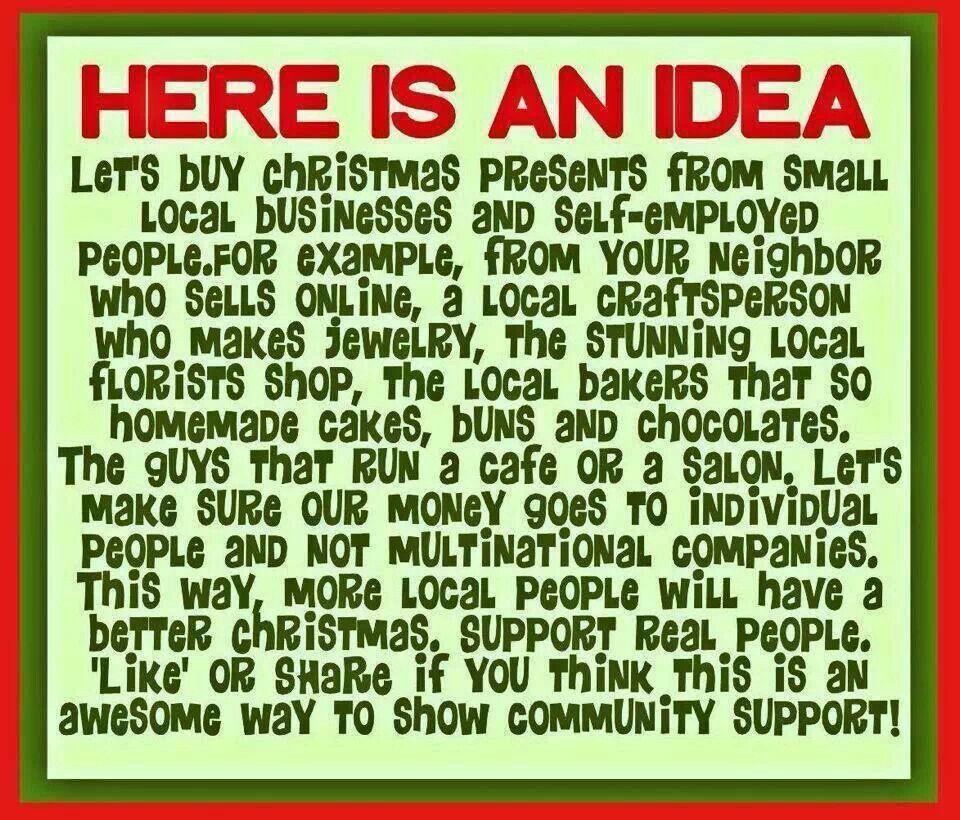 Buy handmade! Buy local! Stick it to the man! Support real people! ♡