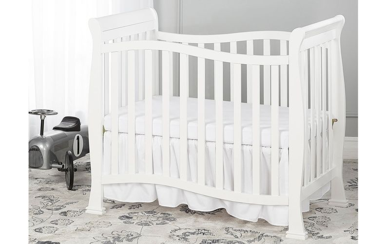 Baby Crib Cot Crib 125 White Color Baby Beds Solid Wood Baby Bed