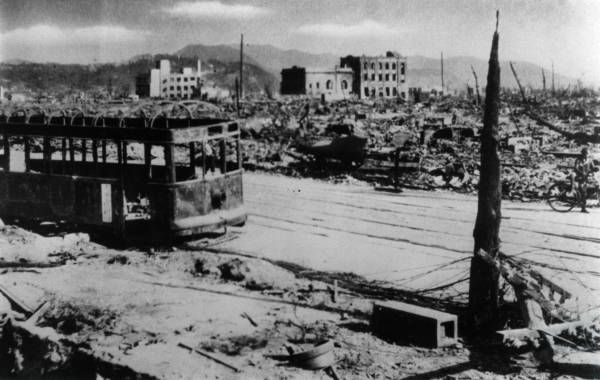 After the atomic bomb was dropped on August 6, 1945, Hiroshima.