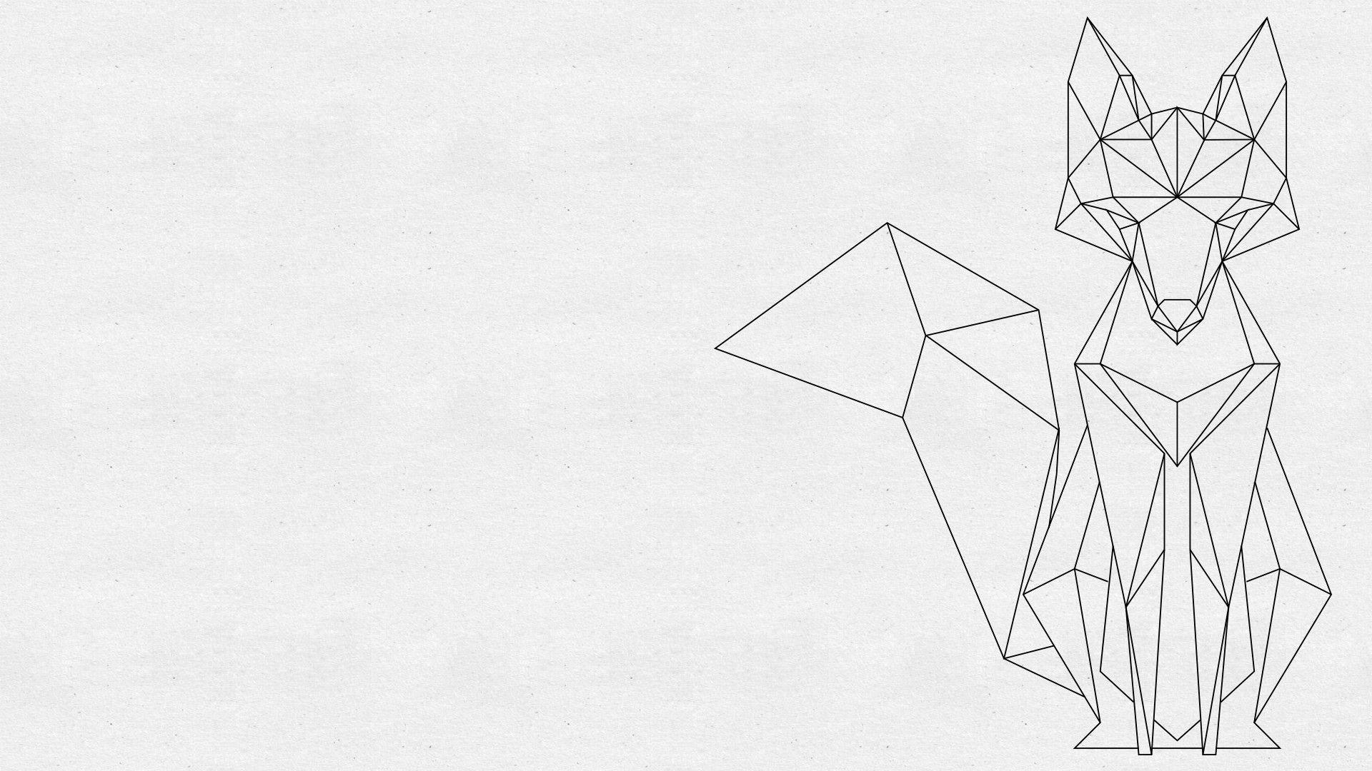 Daily hd wallpaper Geometric Fox [1920x1080] More sizes