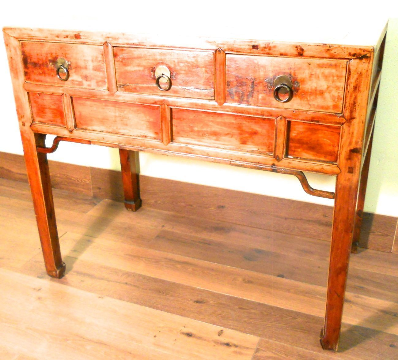 Antique chinese desk 5386 console table cypress wood circa antique chinese desk 5386 console table cypress wood circa 1800 geotapseo Gallery