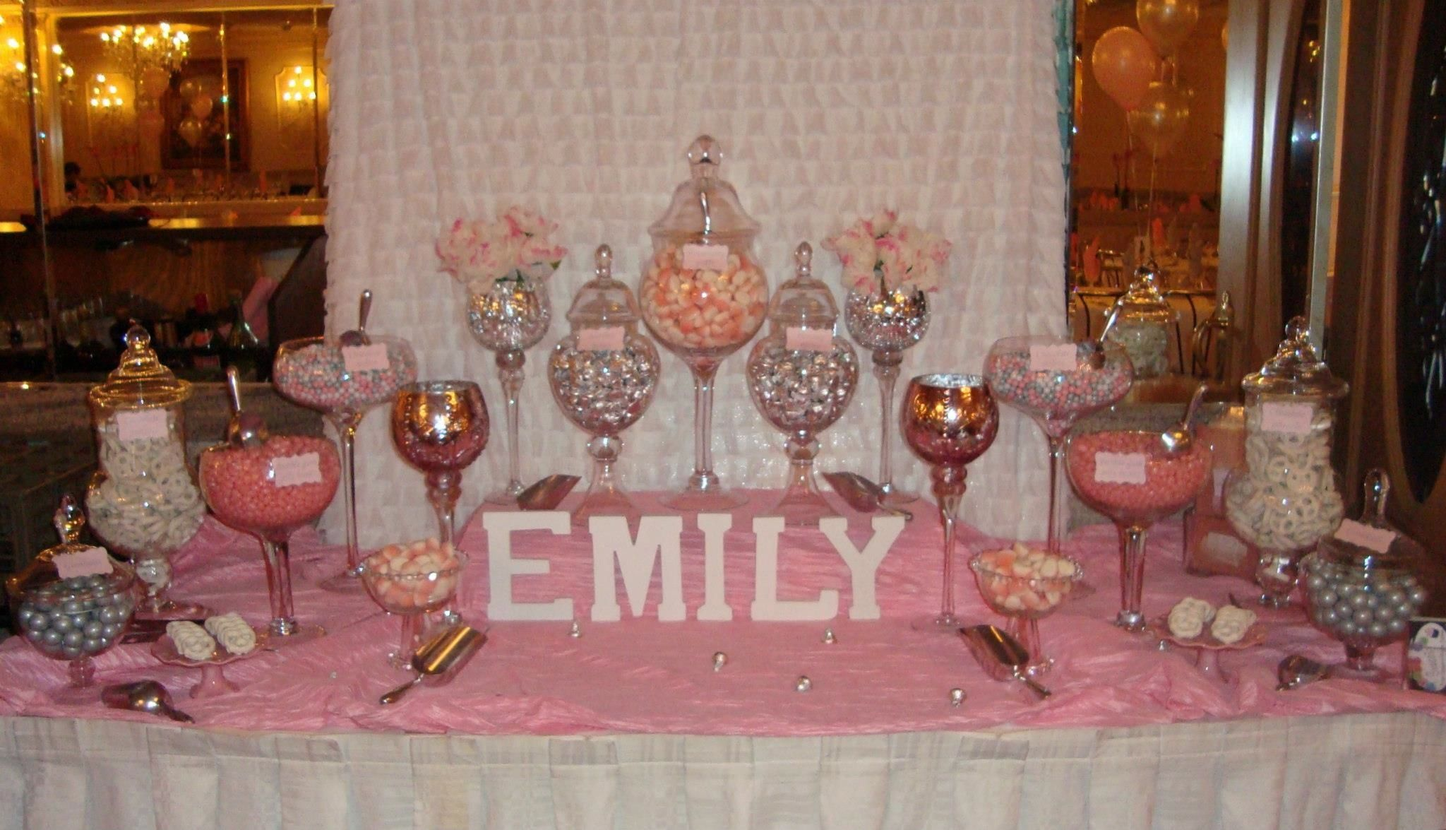 Christening Candy Table Pink And White Candy Table Sweet Buffet Christmas Candy Buffet