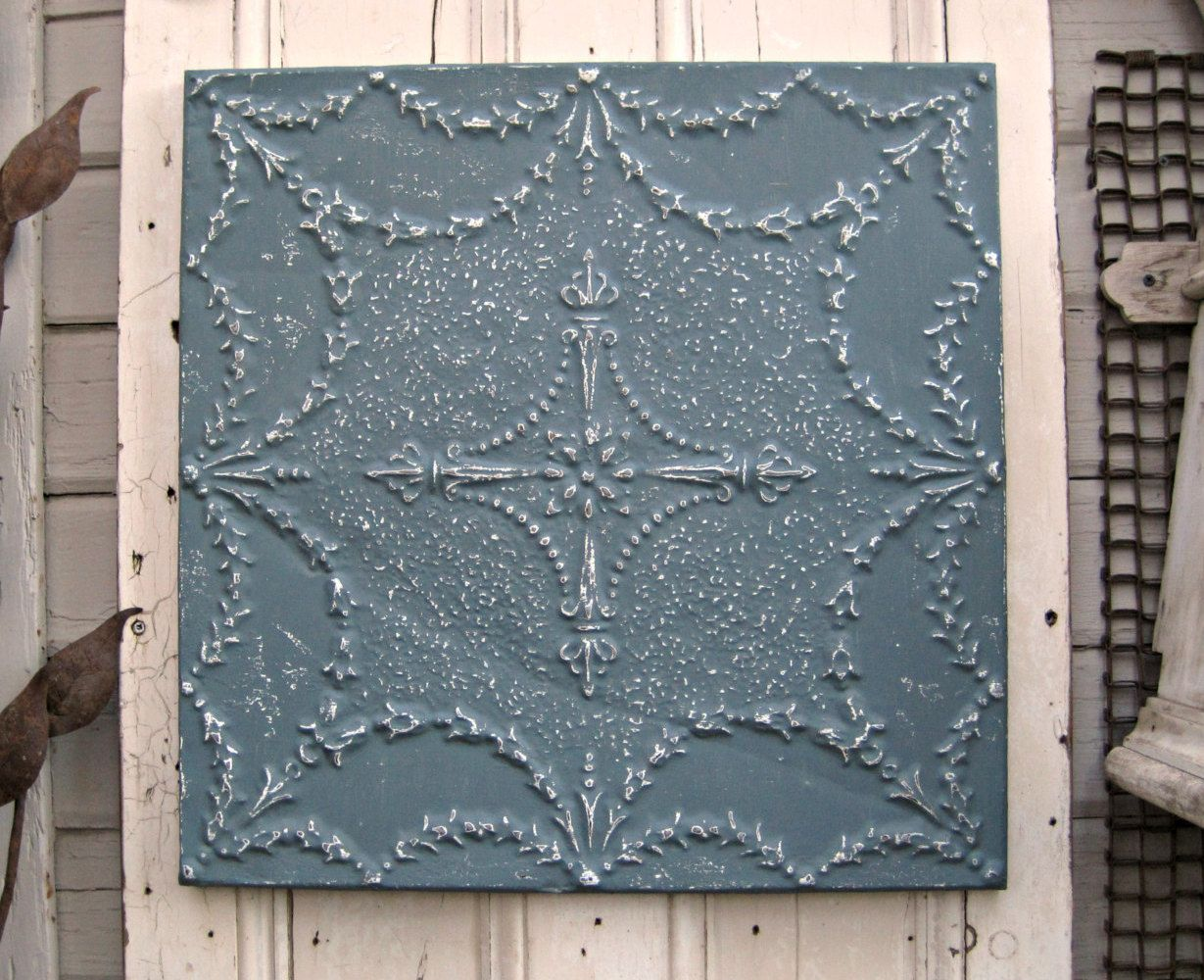 Tin ceiling tile 2x2 framed vintage wall decor antique pressed tin ceiling tile 2x2 framed vintage wall decor antique pressed tin dailygadgetfo Image collections