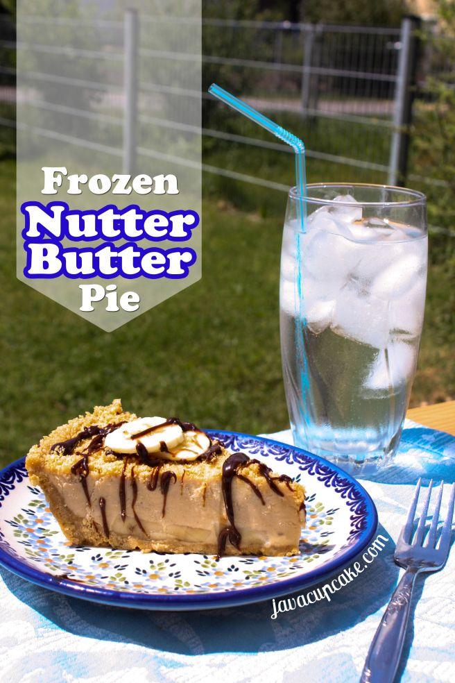 Frozen Nutter Butter Pie by JavaCupcake.com