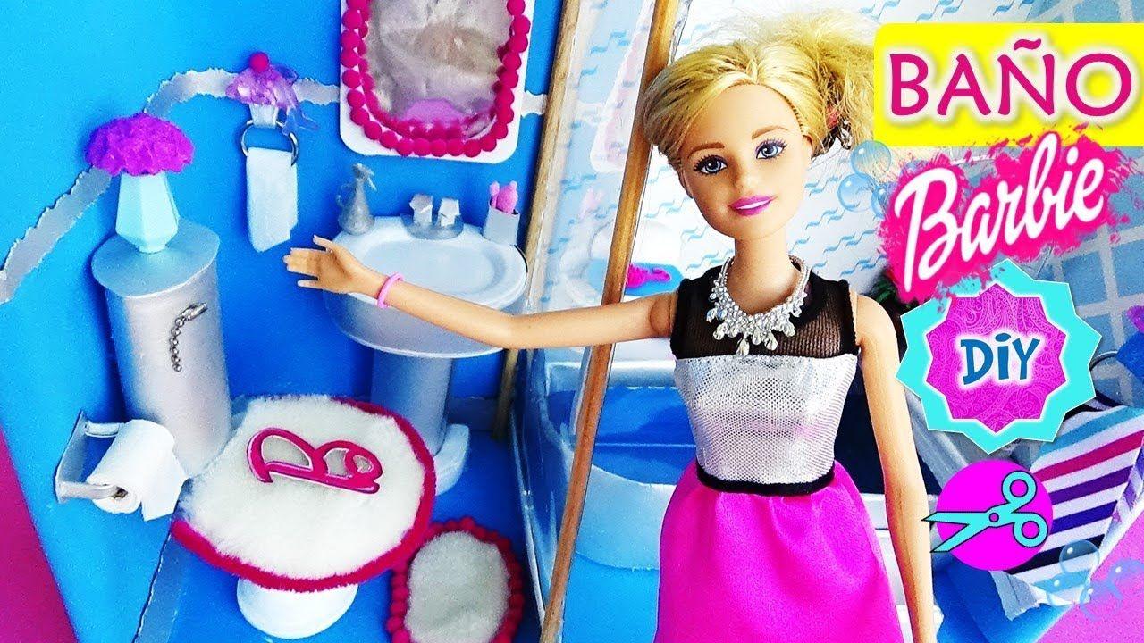 Como hacer BAÑO para MUÑECAS Barbie | DIY: Papel Higiénico ...