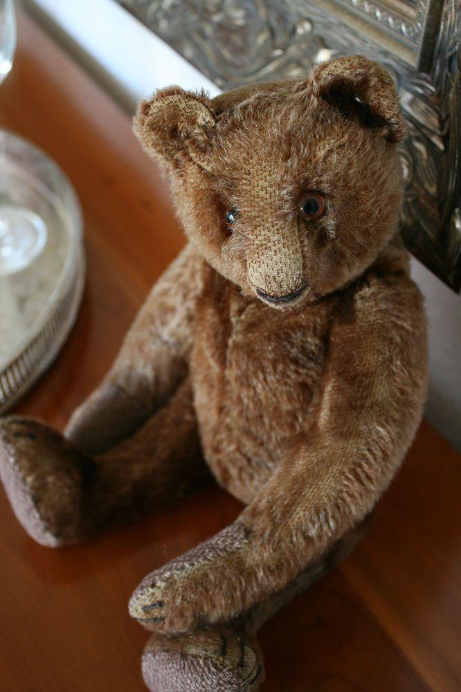 Steiff Vorkriegs Teddybär • ff-Knopf • 32 cm • dunkelbraun • 1934-43