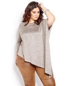 L&L 3/4 Sleeve Asymetric Top