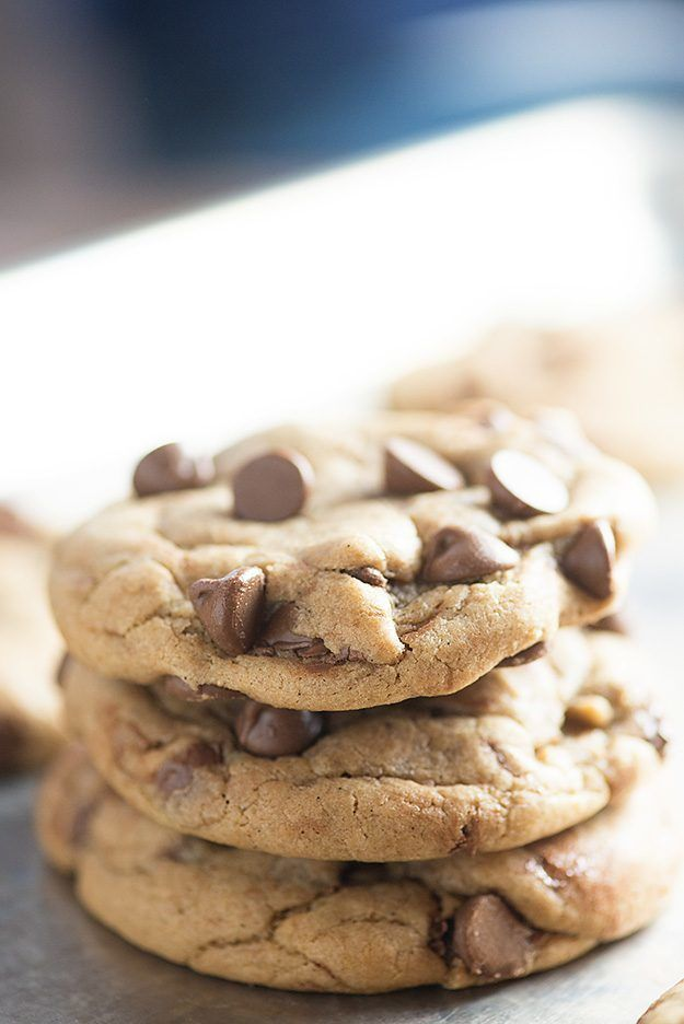 my perfectly thick and chewy chocolate chip cookies best part no chillin perfect chocolate chip cookies cookies recipes chocolate chip chocolate chip cookies pinterest